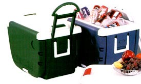 PARTY CART: Patented Multi-Functional Cooler.